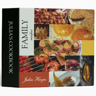 Collage of photos - recipe binder