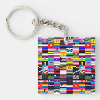 Collage of Pride Flags Keychain