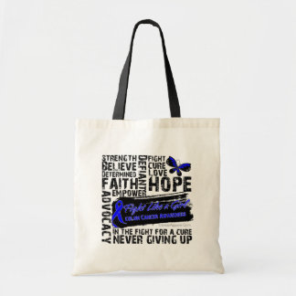 Collage of Words - Colon Cancer Tote Bag