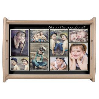 Collage personnalisé de photo encadré par ivoire plateaux de service