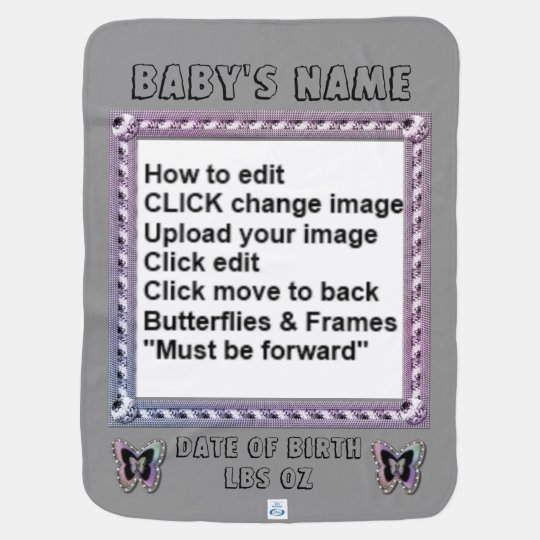 Collage Shiny Butterfly Frames Swaddle Blanket