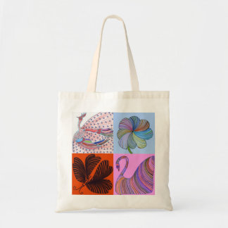 Collage tote bag by Daisy