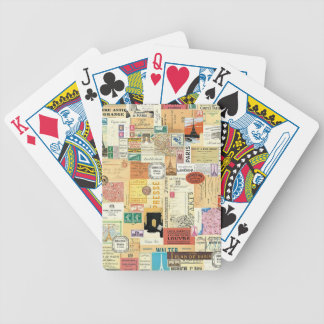 Collage Trips Bicycle Playing Cards