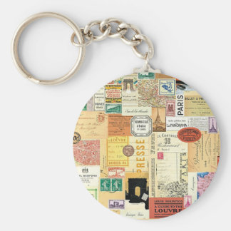 Collage Trips - Key ring Basic Round Button Keychain