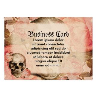 Collage vintage de crâne de Rosa Carte De Visite Grand Format