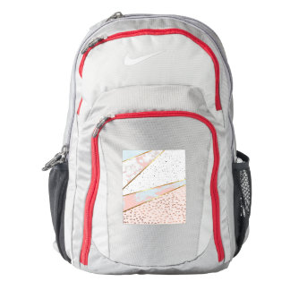 Collage,white marble,gold,silver,black,white,hand backpack