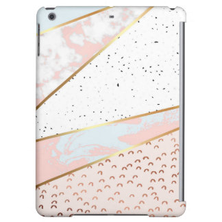 Collage,white marble,gold,silver,black,white,hand iPad air cover