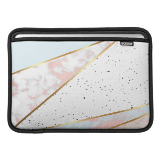 Collage,white marble,gold,silver,black,white,hand MacBook sleeve
