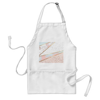 Collage,white marble,gold,silver,black,white,hand standard apron