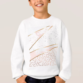 Collage,white marble,gold,silver,black,white,hand sweatshirt