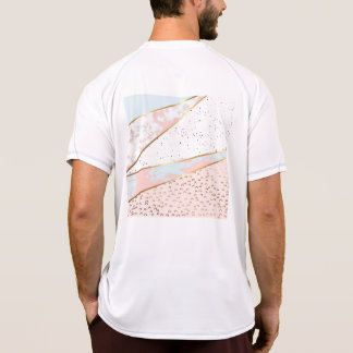 Collage,white marble,gold,silver,black,white,hand T-Shirt
