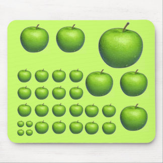 Collage with apples mouse pad