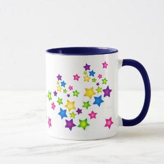 Collage with stars mug