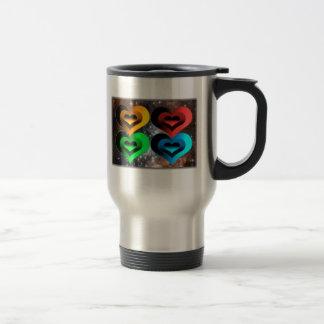 Collage-x de coeurs mugs à café
