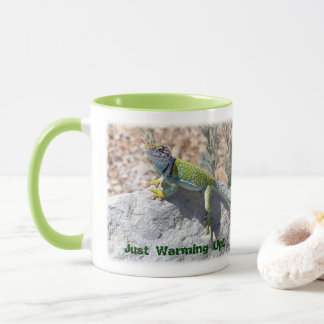 Collared Lizard On Rock Close-Up Photograph Mug