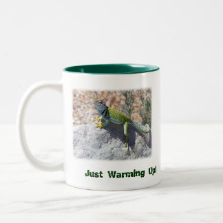 Collared Lizard Two-Tone Coffee Mug