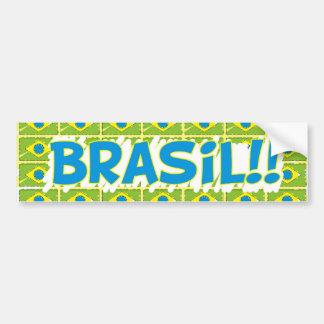 """Colle rectangulaire «Brésil dans l'office """" Autocollant De Voiture"""