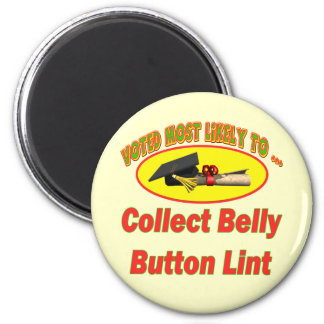 Collect Belly Button Lint Magnet