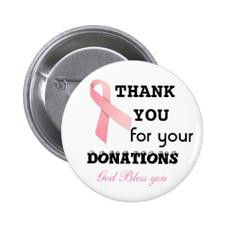 collect donations for cancer- botton 2 inch round button