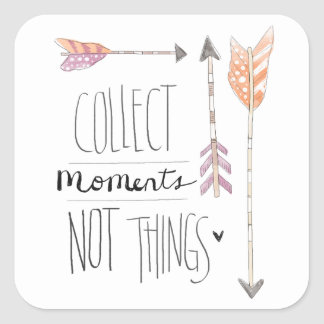 Collect Moments | Change your background color Square Sticker