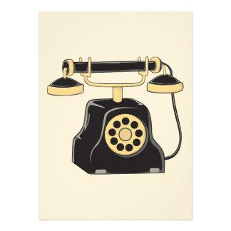 Collecteur antique fait sur commande de téléphone invitations personnalisées