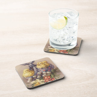 Collecting Easter Chicks Coaster