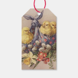 Collecting Easter Chicks Gift Tags