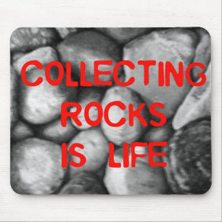 Collecting Rocks Mouse Pad
