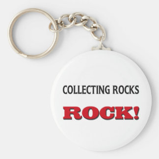 Collecting Rocks Rock Keychain