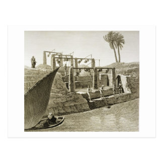 Collecting Water from the Nile, plate 6 from Volum Postcard