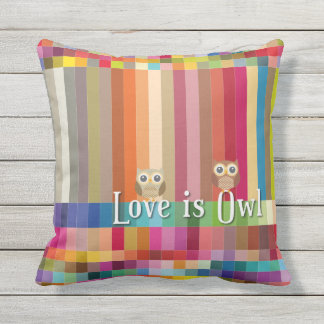 "Collection ""Coils is owl "" Outdoor Pillow"