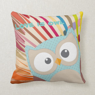 "Collection ""Coils is owl "" Throw Pillow"