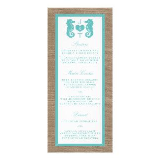 Collection de mariage de plage de toile de jute cartes doubles customisables