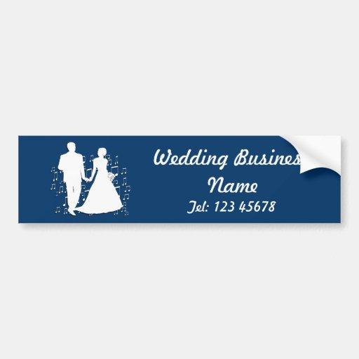 Collection de thème d'affaires de wedding planner autocollants pour voiture