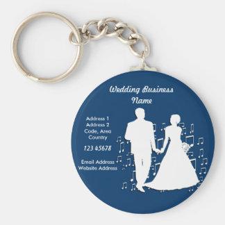 Collection de thème d'affaires de wedding planner porte-clés