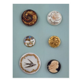 Collection of buttons postcard