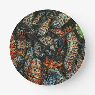 Collection Of Mopane Worms (Imbrassia Belina) Round Clock