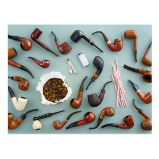 Collection of pipes postcard