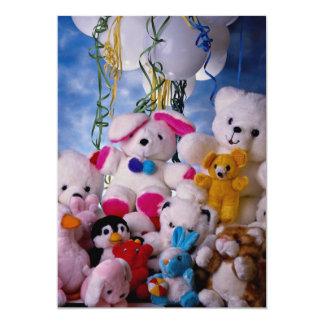 Collection of pretty Teddy bear dolls Card