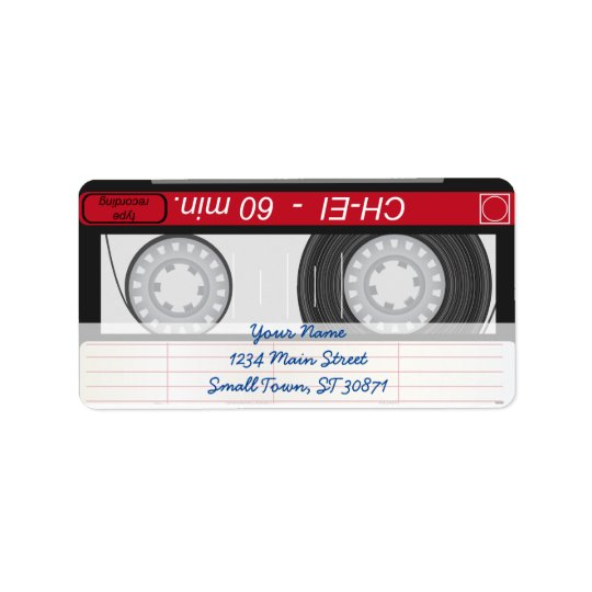 Collection of Retro Audio Cassette Tapes Label