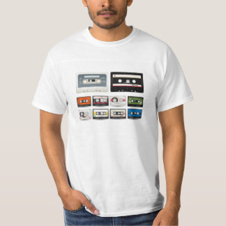 Collection of Retro Audio Cassette Tapes T-Shirt