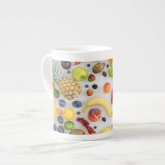 Collection of summer fruits tea cup