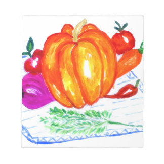 Collection of Vegetables Notepads