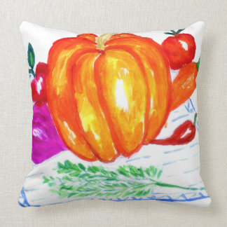 Collection of Vegetables Throw Pillow