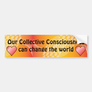 collective consciousness bumper sticker car bumper sticker