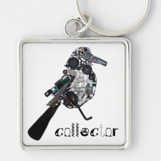 """""""Collector"""" Magpie Found-Object Sculpture Keychain"""
