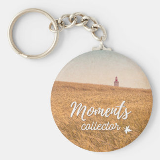 Collector Moments Basic Round Button Keychain