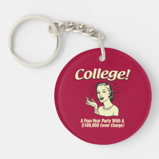 College: 4 Year Party 100,000 Cover Keychains
