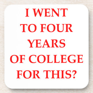 COLLEGE DRINK COASTERS