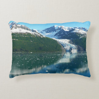College Fjord I Scenic Alaska Cruising Decorative Pillow